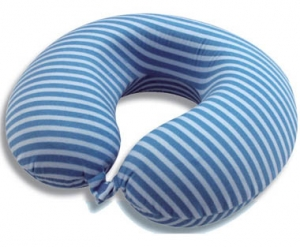 Memory Foam Neck Pillow with stripe cover
